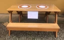Mesa vira banco Angelim