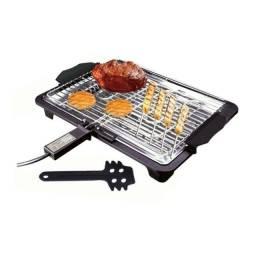 Churrasqueira Grill Elétrica Portátil Churrasco Casa Espetos Cozinha