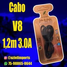 Cabo de Dados USB, Micro USB 3.0A, 1,2m., XC-CD-V8-B, Preto, X-CELL