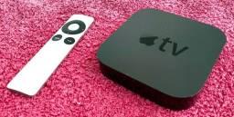 Maravilhosa Apple TV A1469 com controle remoto e Wi-Fi em perfeito estado! Inclui cabos
