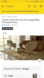 Tapete 2,00x2,50 Costa Oro Shaggy Mega Promoção Peludo