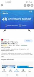 Vendo TV 4k Samsung na garantia ainda,rescem vai fazer um ano qe comprei
