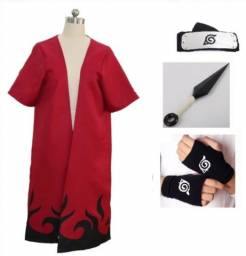 Naruto modo sannin capa manto vermelho