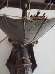 Barco com canhão e Jack sparrow