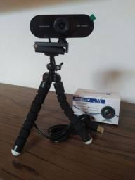 WebCam Full HD + Tripé