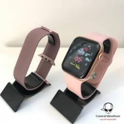 Smartwatch iwo w506 2 pulseiras milanesa e silicone