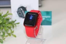 Smartwatch Iwo 13 HW12 Vermelho 40mm Faz ligação Notificações de Redes Sociais