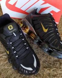 Tênis Nike Shox 12 molas Refletivo