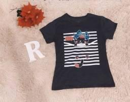 Título do anúncio: T-shirt femininas várias cores atacado e varejo