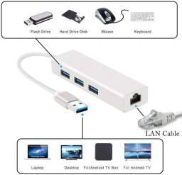 HUB Rj45 com 3 Portas USB Le-4102 - It.Blue