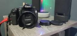 camera canon 60d + lente 35mm 2.0 youngnuo