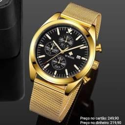 Relógio Masculino Luxuoso Original WWOOR Funcional