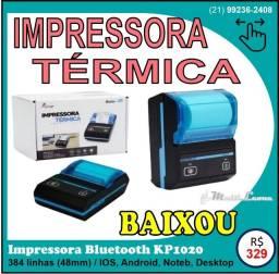 Impressora portátil Bluetooth USB térmica Kp-1020