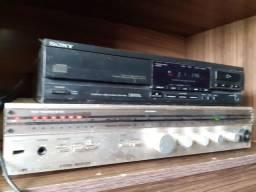 Reciver maia cd player Sony com detalhes
