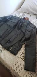 Jaqueta motoqueiro couro legítimo