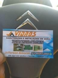 Serviço em vidros estalacoes e manutenção