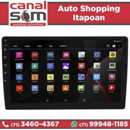 Central Multimídia Universal 1 Din Android Tela 10.1 Tv Gps Instalada na Canal Som