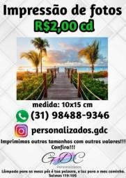 Promoção Impressão de fotos