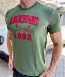 Camiseta Masculina Abercrombie 1892 + brinde