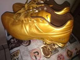 Nike shox 4 molas série ouro original