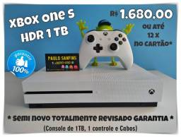 Xbox One S HDR 1TB (garantia total)