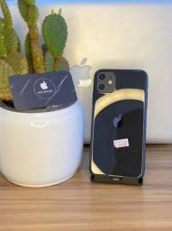 iPhone 11 64gb Preto semi-novo 3 meses de garantia