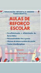 Aulas particulares/ reforço escolar ( Educação Infantil e Ensino fundamental)