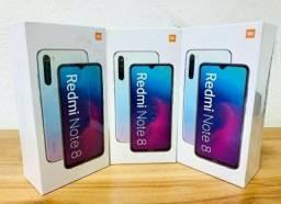 Smarthphone Xiaomi Redmi Note 8 128/64 gb lacrados com garantia passamos cartão