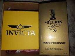 Kits masculino de relógio + perfume million presentei quem vc ama