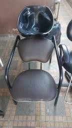 Cadeira e lavatório pra salão
