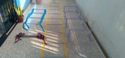 Escada e barreira funcional materias resitente pvc