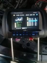 Encosto de cabeça LB monitor 7 polegadas