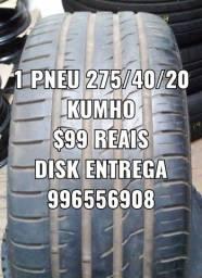 1 pneu 275/40/20 kumho. Disk entrega