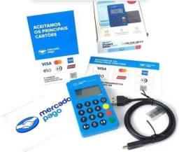 Máquina de cartão mini blue