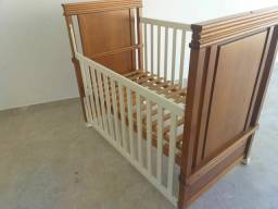 Berço madeira maçica Euclar, vira mini cama