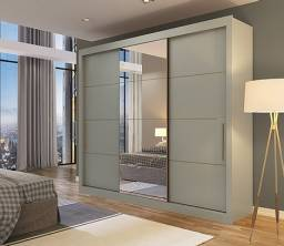 destak moveis - guarda roupa casal 3 portas com espelho madero