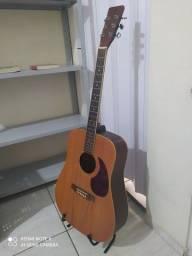 Violão folk feito por luthier
