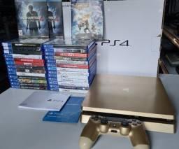 Playstation 4 1 tb edcao limitada gold com garantia