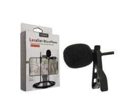 Mini Microfone Condensador De Lapela Profissional Para Celular Stereo P3 Lavalier Jh043