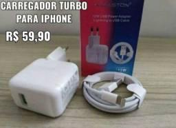 Carregador Turbo Para iPhone Por 49.90<br>