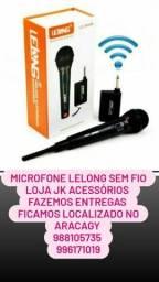 Microfone loja JK micro sem fio