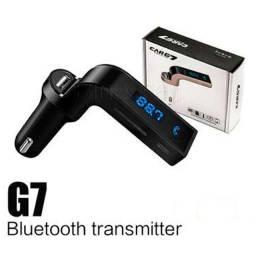 Receptor Transmissor Veicular Com Bluetooth Fm Mp3 Usb Pendrive - Carg7-