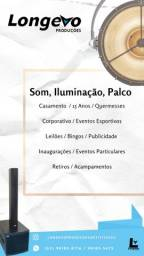 Aluguel de Som, Iluminação e Palco.