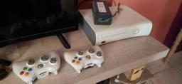 Xbox 360 destravado com 9 jogos+ estabilizador