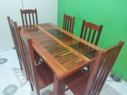 Mesa com Cadeira - 6 lugares