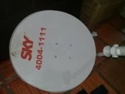 Vendo antena de sky + conversor