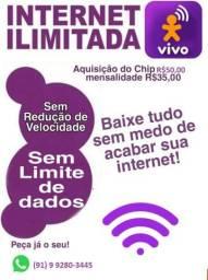 Internet da vivo ilimitado sem acabar por apenas 35 reais por mês