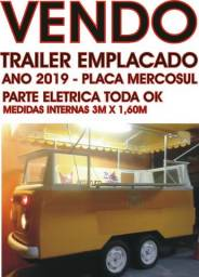 Vendo ou troco (aceito carro) Trailer emplacado 2019 - recibo em branco - 2 eixos