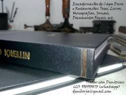 Encadernação de Capa Dura de Teses, Livros. Restaurações de Livros