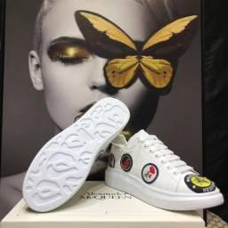Título do anúncio: Tênis Alexander McQueen Branco Flowers